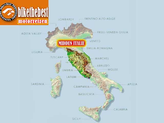 Motorreizen Midden Italië