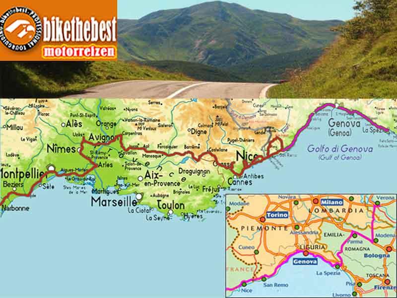Provence du sud & Ligurië